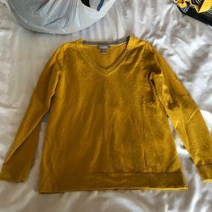 Bright yellow banana republic sweater